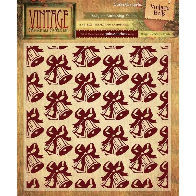 Vintage Christmas 8x8 Embossing Folders