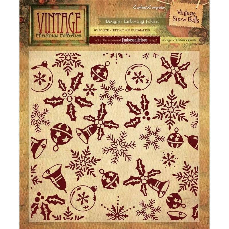 Vintage Christmas 6x6 Embossing Folders