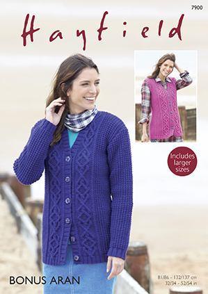 Sirdar Bonus Aran with Wool 400g patterns