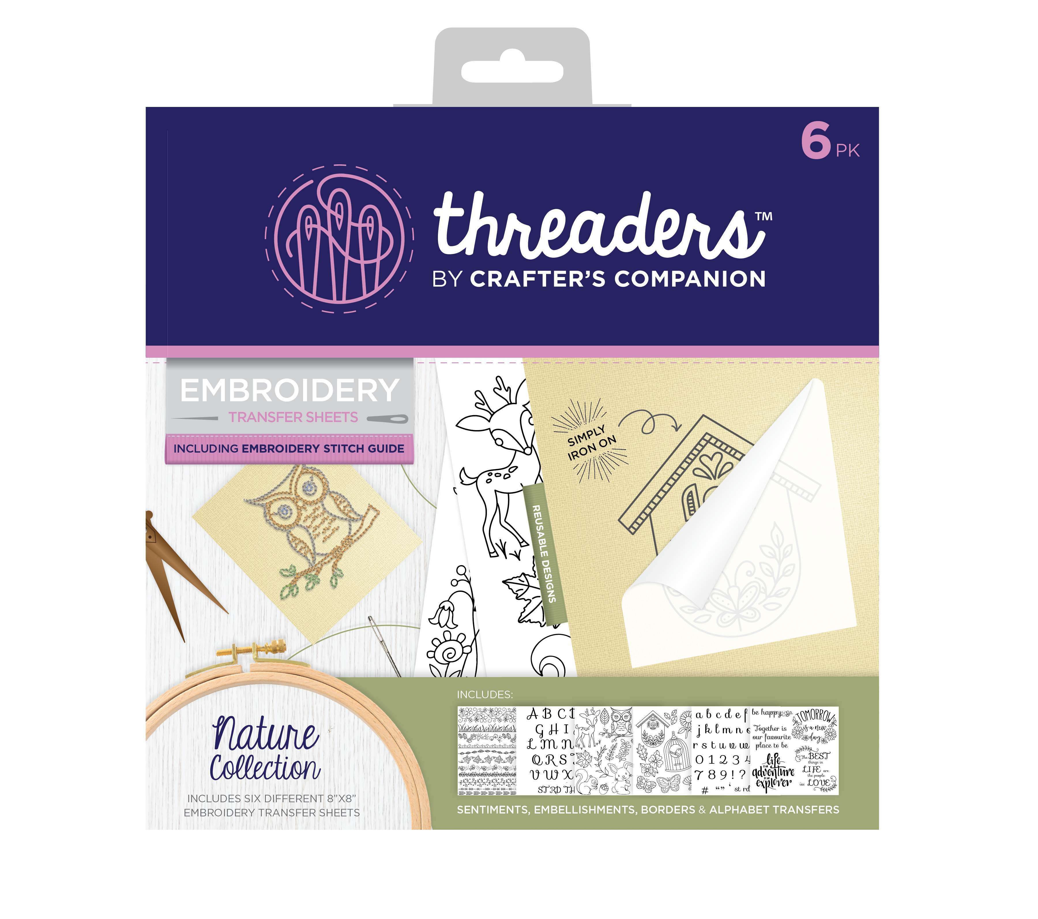 20% off Embroidery Kits, Transfers and Hoooked