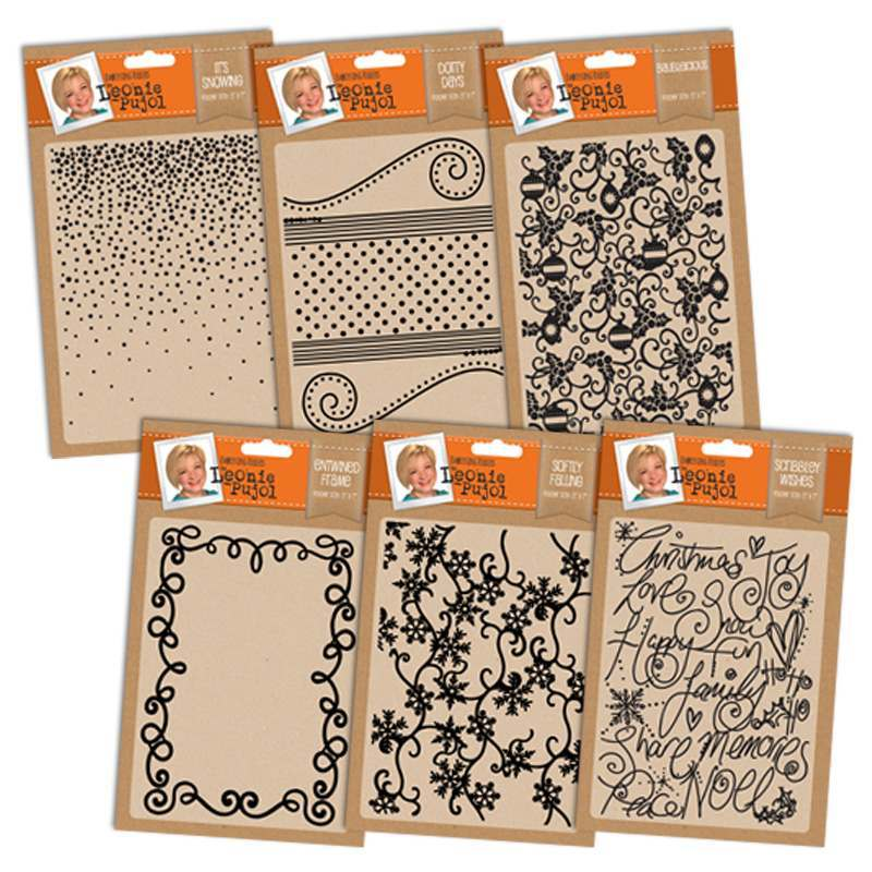 Leonie Pujol Christmas Embossing Folders and Stamps