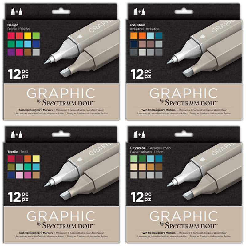 Graphic Markers - Sets of 12
