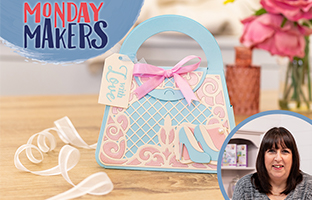 Monday Makers - 5th July -Abstract Stamp & Die, Reveal Windows and Purse Dies