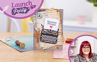 Launch Party - 13th April - Sara Sig Letters From The Heart, Layering Texture Stamps