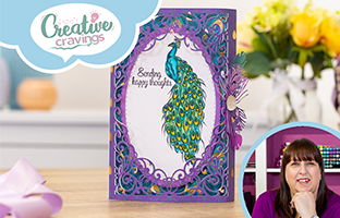 Creative Cravings - 20th Jan -  Nature's Garden Peacock, Craft Kit, Layering Stencils