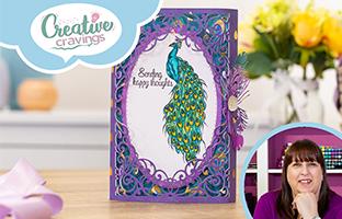 Creative Cravings - 20th Jan -  Nature's Garden Peacock, Craft Kit, Layering Stencils