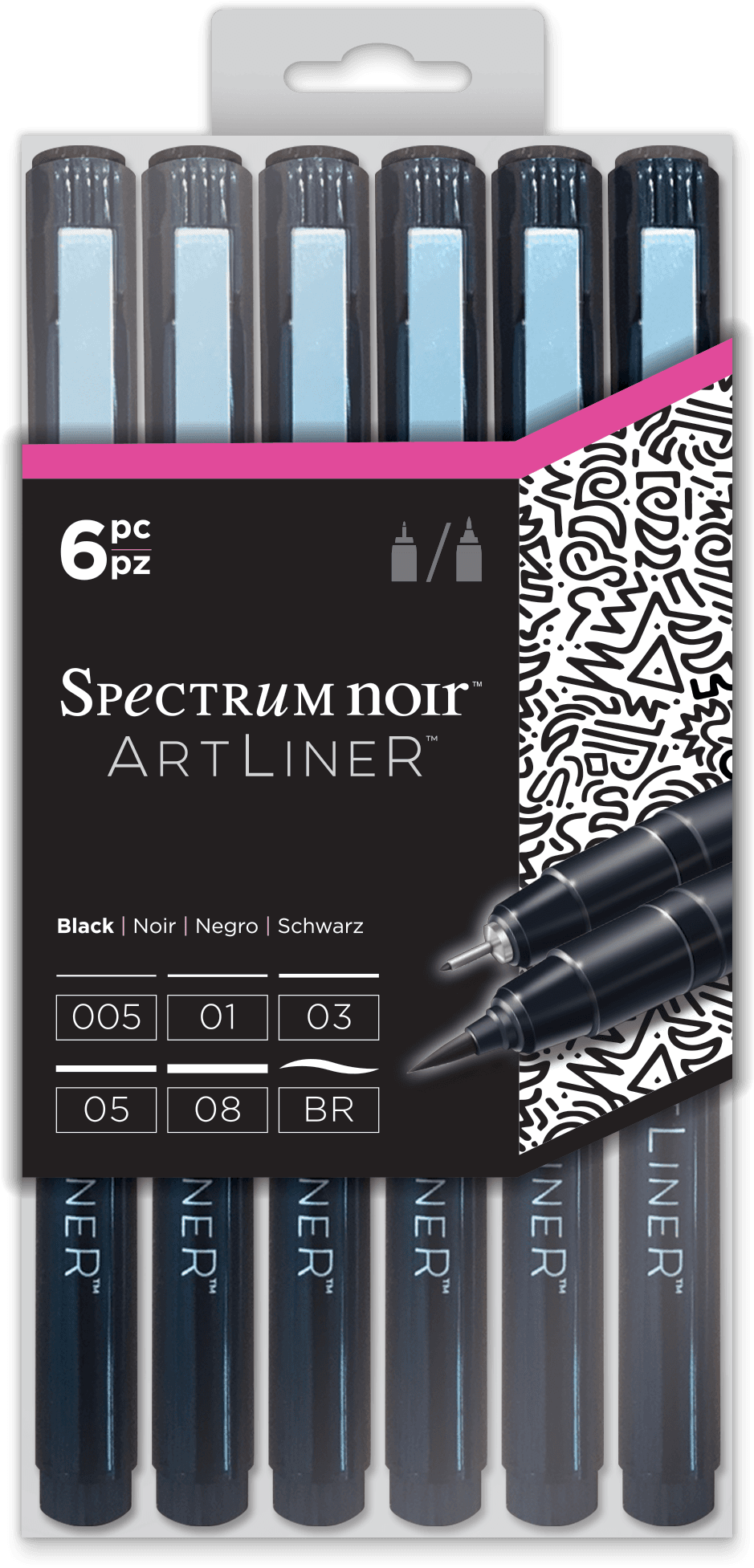ArtLiner Fine Line Pens - Sets of 6