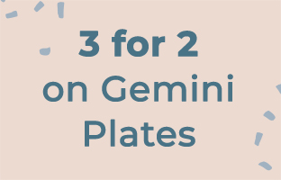 3 for 2 on Gemini Plates