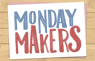 Monday Makers - Background Stencil and Focal Stamps - with Debby - Monday 13th July