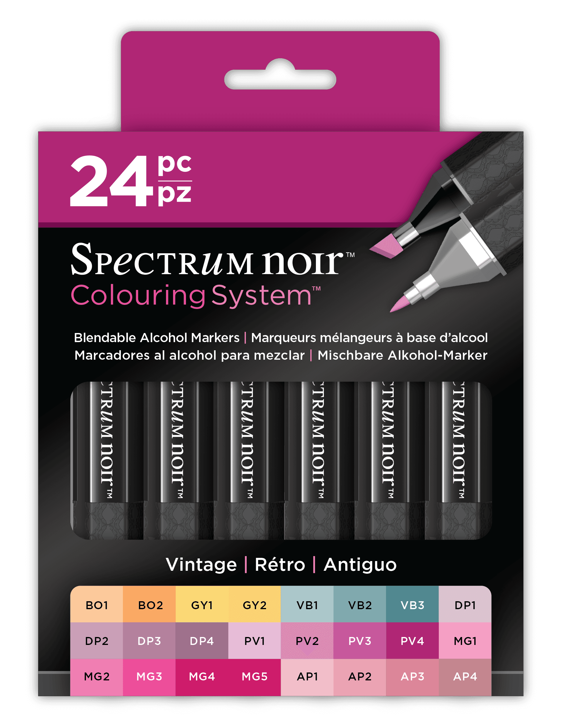Colouring System Markers - Sets of 24