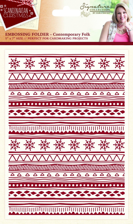 Sara Signature - Scandinavian Christmas - Embossing Folders