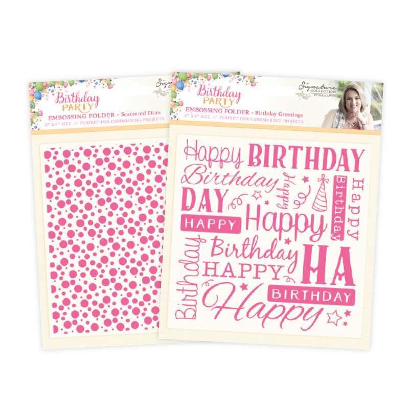 Sara Signature - Birthday Party Embossing Folders