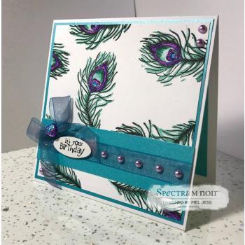 Cherry Green Stamps - Hydrangea & Butterflies