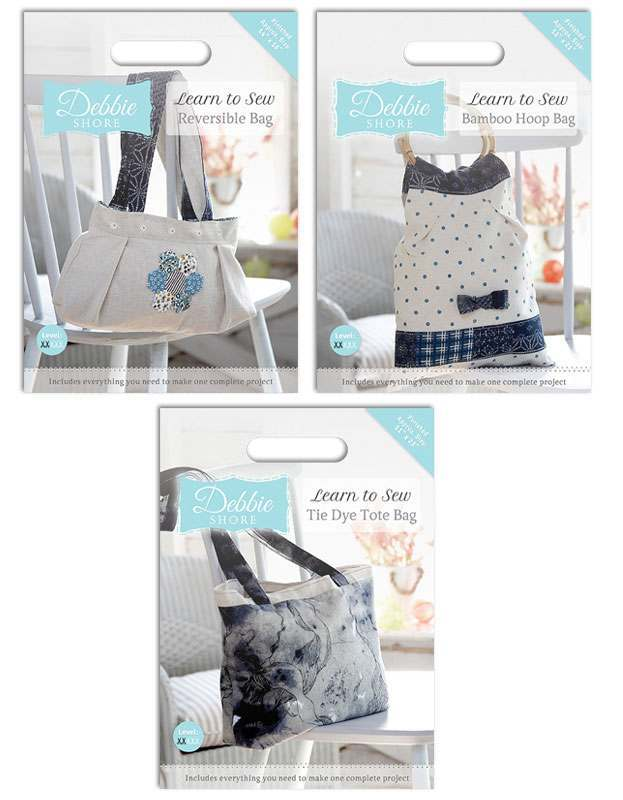 Debbie Shore Learnt to Sew Bags Kits 30% off