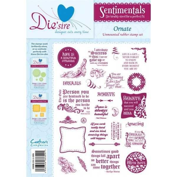 Die'sire Sentimentals Stamps