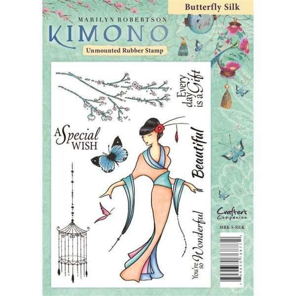 Kimono A6 Rubber Stamps