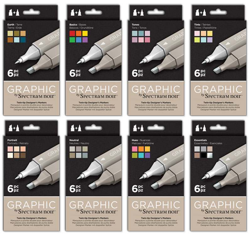 Graphic Markers - Sets of 6