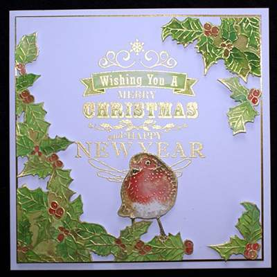 Christmas embossing folders & stamps 2015