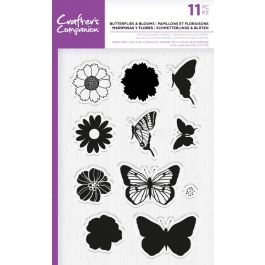 Crafters Companion Butterly Alphabet Collection Clear Acrylic Stamps-Butterflies /& Bees One Size