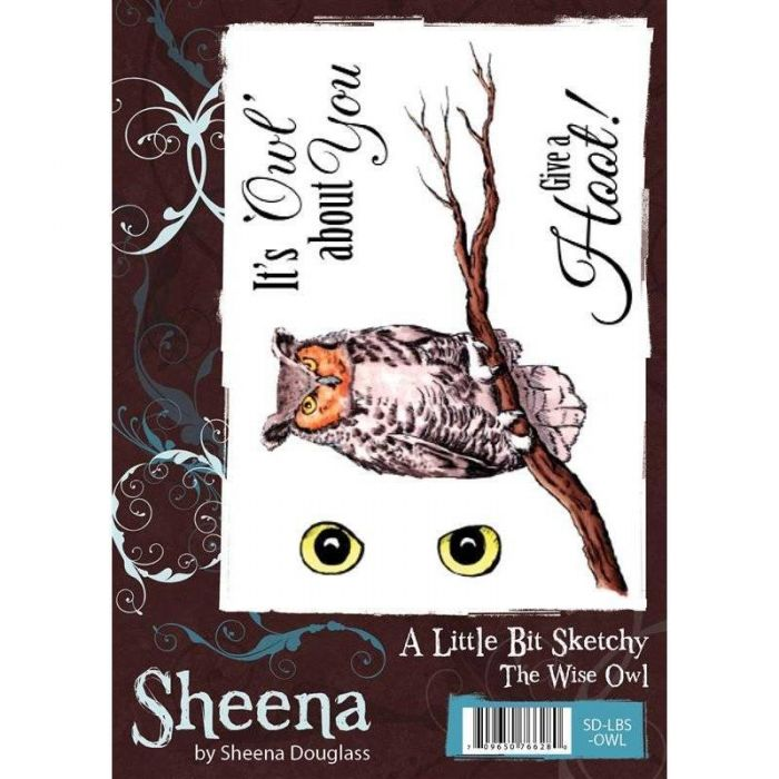 Sheena Douglass A Little Bit Sketchy A6 Rubber Stamp Set - The Wise Owl  Stamp