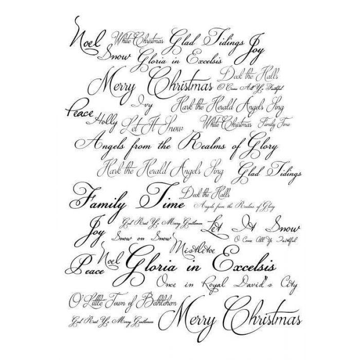 Imagination Crafts Art Stamps 135mm x 91mm - Christmas Script