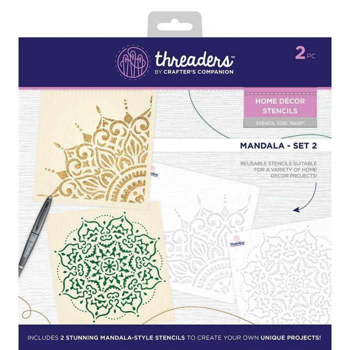 Home Decor Stencils Mandala Set 2 Threaders