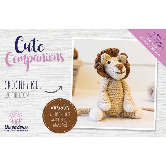 Cute Companions Crochet Kit Leo The Lion By Threaders