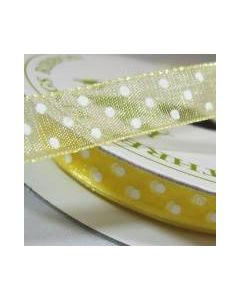 Three Kings Baby Maize dotted organza ribbon - 10mm