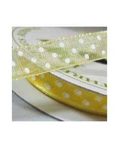 Three Kings Baby Maize dotted organza ribbon - 10mm