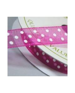 Three Kings Beauty dotted organza ribbon - 10mm