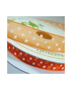 Three Kings Pumpkin dotted organza ribbon - 10mm