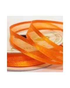 Three Kings Pumpkin satin edge organza ribbon - 10mm