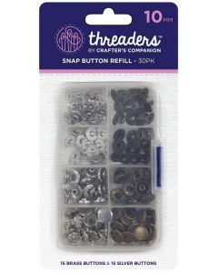 Threaders 10mm Snap Button Refill Pack - 30 Buttons