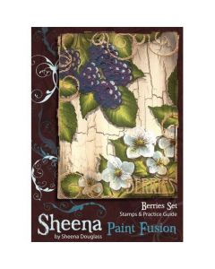 Sheena Douglass Paint Fusion A6 Rubber Stamp Set - Berries