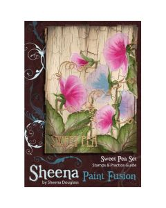 Sheena Douglass Paint Fusion A6 Rubber Stamp Set - Sweet Pea