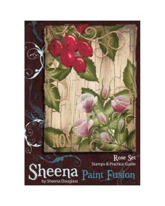 Sheena Douglass Paint Fusion A6 Rubber Stamp Set - Rose