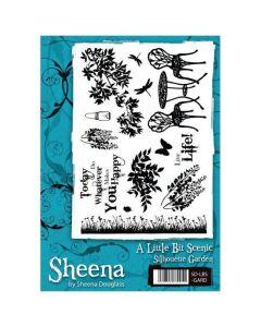 Sheena Douglass A Little Bit Scenic A5 Rubber Stamp Set - Silhouette Garden