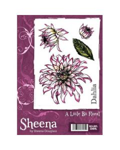 A Little Bit Floral A6 Rubber Stamp Set - Dahlia Stamp