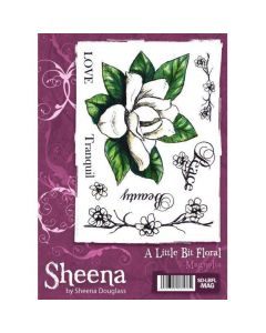 Sheena Douglass A Little Bit Floral A6 Rubber Stamp Set - Magnolia