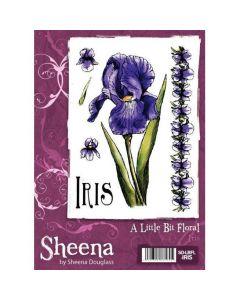 A Little Bit Floral A6 Rubber Stamp Set - Iris Stamp