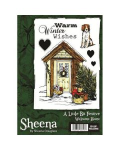 Sheena Douglass A Little Bit Festive A6 Rubber Stamp Set - Welcome Home