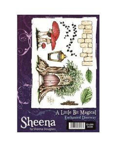 Sheena Douglass A Little Bit Magical A5 Rubber Stamp Set - Enchanted Doorway