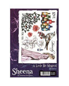 Sheena Douglass A Little Bit Magical A5 Rubber Stamp Set - Honesty