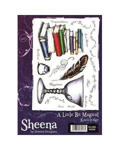 Sheena Douglass A Little Bit Magical A5 Rubber Stamp Set - Knowledge