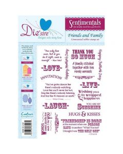 Die'sire Sentimentals Rubber Stamps - Friends and Family