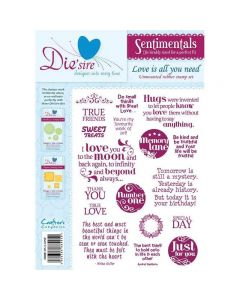 Die'sire Sentimentals Rubber Stamps - Love Is All You Need