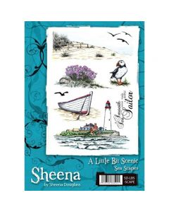 Sheena Douglass A Little Bit Scenic A5 Rubber Stamp Set - Sea Scapes