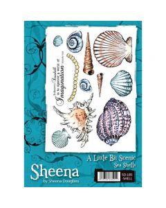 Sheena Douglass A Little Bit Scenic A5 Rubber Stamp Set - Sea Shells