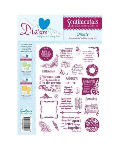 Die'sire Sentimentals Rubber Stamps - Ornate
