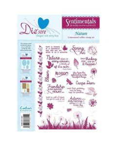 Die'sire Sentimentals Rubber Stamps - Nature